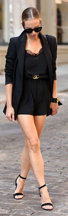 Everything Black Glam Outfit Idea by Brooklyn Blonde