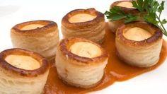 Receta de Mini volovanes de salmón con salsa americana y otros aperitivos