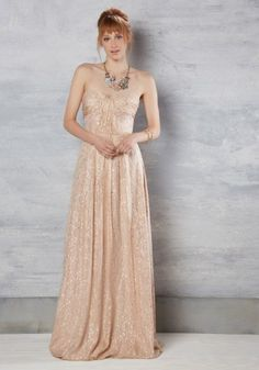 vestido de noiva barato de modcloth online em pessego e dourado 2 - 225