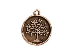 Nunn Design Copper-Plated Pewter Tree of Life Charm