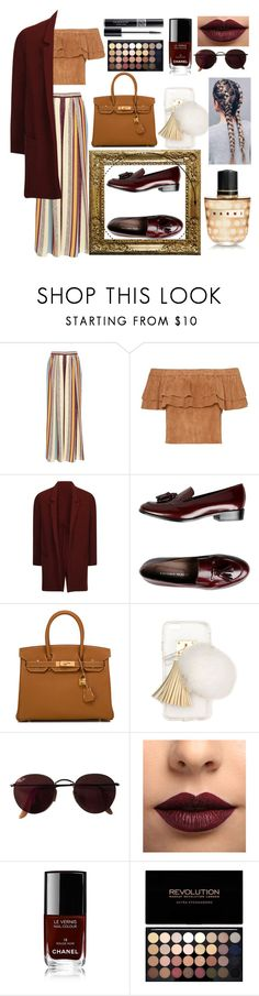 """#Loafers"" by fashionqueen68 ❤ liked on Polyvore featuring Maison Père, Elvi, Leonardo Principi, Hermès, Ashlyn'd, Ray-Ban, LASplash, Chanel, Christian Dior and Marni"