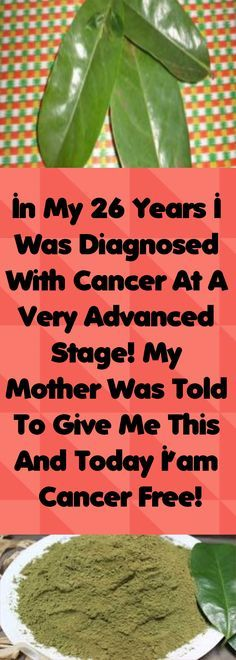 In My 26 Years I Was Diagnosed With Cancer At A Very Advanced Stage! My Mother Was Told To Give Me This And Today I'am Cancer Free! Share, You Can Save Many Lives! – Healthy Magazine