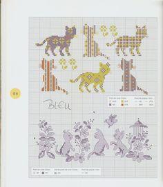 Gallery.ru / Фото #28 - Les chats au point de croix - NINULYKA
