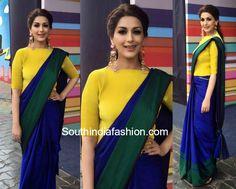 sonali bendre payal khandwala blue saree 600x481