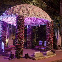 floral dome mandap , circular mandap