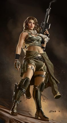 Female Commando by dustsplat