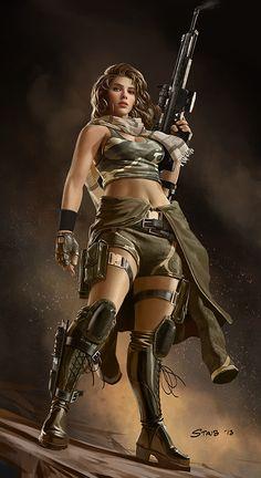 Female Commando by John Staub | 2dgeek