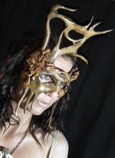 Woodland greenman Mask by Shadows-Ink.deviantart.com on @deviantART