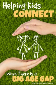 Helping kids connect there there is a BIG age gap is super important! Find out how YOU can help your kids connect and cultivate awesome relationships with their siblings --- even when there is a BIG age gap! @alicanwrite