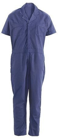 Condor Navy Blue Short Sleeve Coverall,L, Size: Large