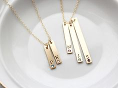 Hey, I found this really awesome Etsy listing at https://www.etsy.com/listing/472112609/engraved-birthstone-necklace-bar