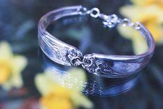 Vintage silverware bracelet Daffodils, Bracelets, Silver, Vintage, Jewelry, Bangles, Jewellery Making, Money, Arm Bracelets