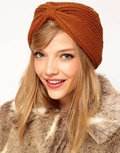 digging this knit turban hat (and the fur coat is pretty sick too...)