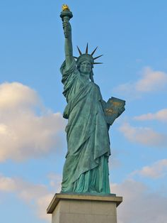 The Statue of Liberty is only a short ferry ride from New York or New Jersey!