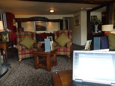 The lounge at the Black Swan, Helmsley - a great place for a business meeting