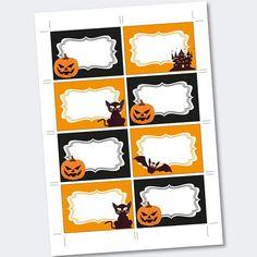 Halloween stickers Halloween food labels Party supplies