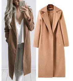 Новая Красивая Бесплатная доставка 2017 новых осенью и зимой высокой моды комфортно джокер долго чистый цвет ткань пальто женщина купить на AliExpress