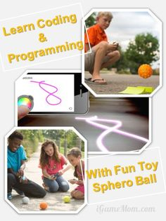 Learn coding and programming with fun toy Sphero ball - with free lesson plans for math, science, ...