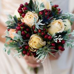 A personal favorite from my Etsy shop https://www.etsy.com/listing/250187785/winter-wedding-bouquet