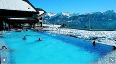 """See 67 photos and 9 tips from 367 visitors to Les Bains d'Ovronnaz. """"The scenery is amazing, especially in the winter. Being in a hot pool surrounded. Four Square, Switzerland, Places To Go, Scenery, Wallis, Outdoor Decor, Trips, Viajes, Landscape"""