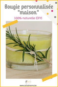 """Apprenez à réaliser vos propres bougies parfumées naturelles en cire végétale grâce à cette recette facile et rapide. Personnalisez-les avec des senteurs et parfums de votre choix. Un chouette cadeau à offrir ou pour décorer et créer une ambiance chaleureuse dans toutes les pièces de votre maison. Idéal quand vous prenez un bon bain chaud! Conseil, tuto et code promo sur un coffret """"tout prêt"""" pour réaliser vos bougies personnalisées #bougie #parfumée #personnalisée #deco Code Promo, Coin, Permaculture, Homemade Candle Holders, Personalized Candles, Customized Gifts"""