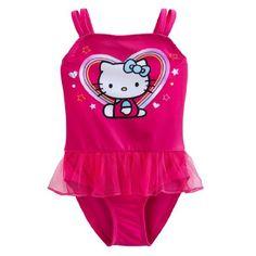 94b9ad0d74 Amazon.com: Sanrio Hello Kitty One Piece Swimsuit Swimwear Tutu Little  Girls' 2T Pink: Clothing
