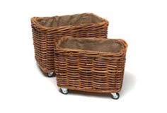 Asst of 2 Rectangular Baskets w/ Wheels on OneKingsLane.com