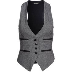 Denham MAJOR Waistcoat ($155) ❤ liked on Polyvore featuring outerwear, vests, tops, jackets, blue, gilets &amp waistcoats, women's outerwear, blue vest, waistcoat vest and vest waistcoat
