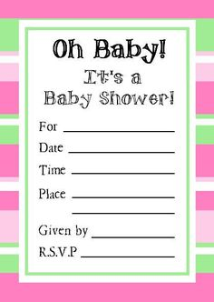 Printable Shower Invitations | another printing option if you have microsoft word after you