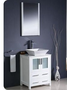 Modern Bathroom Vanities Vaughan windbay 24″ wall mount powder bathroom vanity sink set. vanities