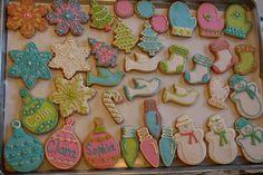 christmas cookies in pastel!