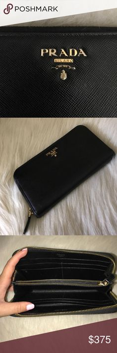 Prada Prada Saffiano Leather Wallet. Authentic. Used - in great condition. Serious buyers only. No trades. Prada Bags Wallets