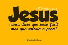 "Tudo Sobre Jesus, ""Olho nenhum viu, ouvido nenhum ouviu, mente... #Jesus #hard #bible #biblia #quotes"