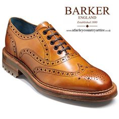 Barker Shoes - Boyd - Commando Sole Brogue - Cedar Calf - Barker Shoes AW14 - available to buy online at http://www.afarleycountryattire.co.uk/product-tag/barker-shoes-aw2014/ #barkershoes #aw14 #aw2014 #mensshoes #afarleycountryattire