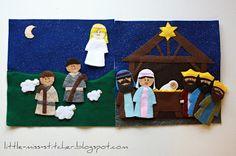 Little Miss Stitcher: Lds Quiet Book: Nativity Scene
