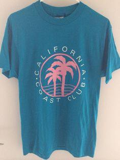 Vintage 1990s California Coast Club T-shirt on Etsy, $25.00