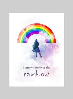 Somewhere Over The Rainbow by My Inspiration Painting Quotes, Art Prints Quotes, Art Quotes, Quote Art, Quote Paintings, Wizard Of Oz Decor, Wizard Of Oz Quotes, Rainbow Quote, Rainbow Art