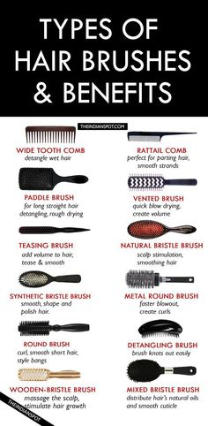 TYPES OF HAIR BRUSHES – HOW TO CHOOSE THE BEST HAIR BRUSH