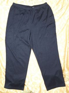 5c2fc710085 Studio1940 Women s Plus Size 18 W Black Pull On Straight Leg Stretch Pants  Glitz  Studio1940