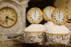 New Year's Eve Cupcake Decor - Cupcake Daily Blog - Best Cupcake Recipes...one happy bite at a time!