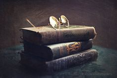 "Vintage home decor, ""The Hidden Hand"" fine art print, Halloween,books, vintage, antique,fall decor, still life photograph, book photography"