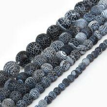 Hot Sale Round 6 8 10 12 14mm Stone Beads Dream Fire Dragon Vein Agate Beads for DIYJewelry Making(China (Mainland))