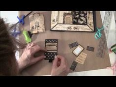 How to build a photo mini album with G45 Olde Curiosity Shoppe paper collection Part 10