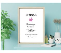 Birthday Quotes For Daughter, Happy Birthday Friend, Happy Birthday Greetings, Mom Birthday Gift, Birthday Wishes, Personalized Wall Art, Thoughtful Gifts, Printable Wall Art, Gifts For Mom