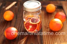 Infused tequila with blood oranges