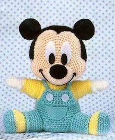 El baúl de la Nona: Patrón Baby Mickey CROCHET