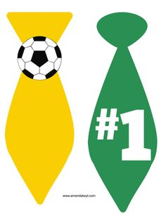 Ties from Soccer Yellow Green Printable Photo Booth Prop Set Soccer Birthday, Soccer Party, Soccer Theme, 2nd Birthday, Birthday Parties, Happy Birthday, Ideas Día Del Padre, Printable Designs, Printables