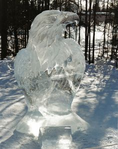 Eagle Ice Carving by Ben Firthand Family