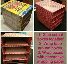 Cereal Box Classroom Cubbies