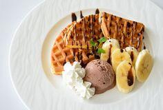 Choclate banana waffle